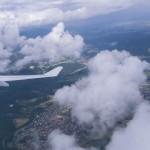 Abflug in Frankfurt bei dichter Bewölkung 14 Uhr